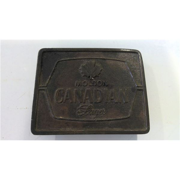 1977 Molson Canadian Brass Belt Buckle
