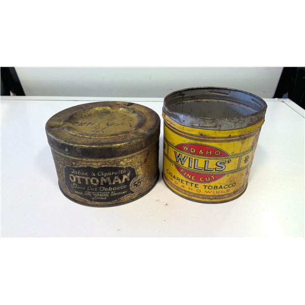 Lot of 2 Ottoman, W.D. and H.O. Wills Tobacco tins