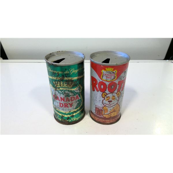 Lot of 2 Vitnage Canada Dry Cans