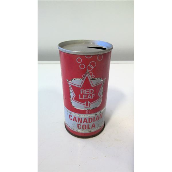 Vintage Red Leaf Canadian Cola Can