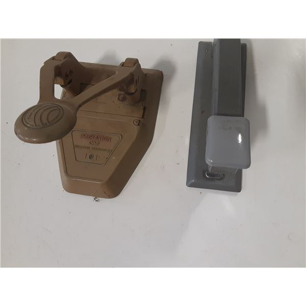 Vintage Bostich Stapler and a single hole punch