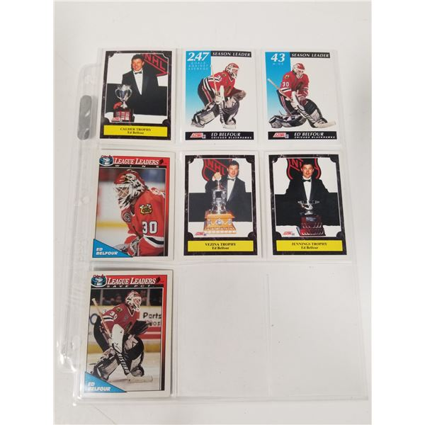 Page Lot Ed Belfour Hockey Cards