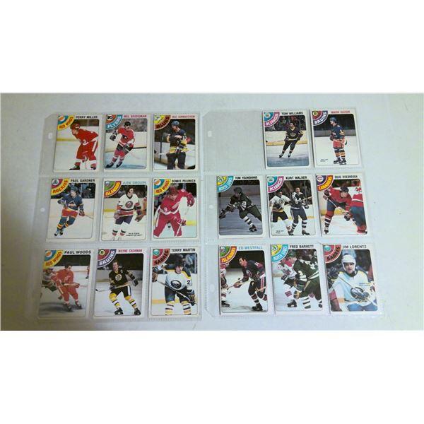 2 page lot 1978 O-Pee-Chee Hockey cards