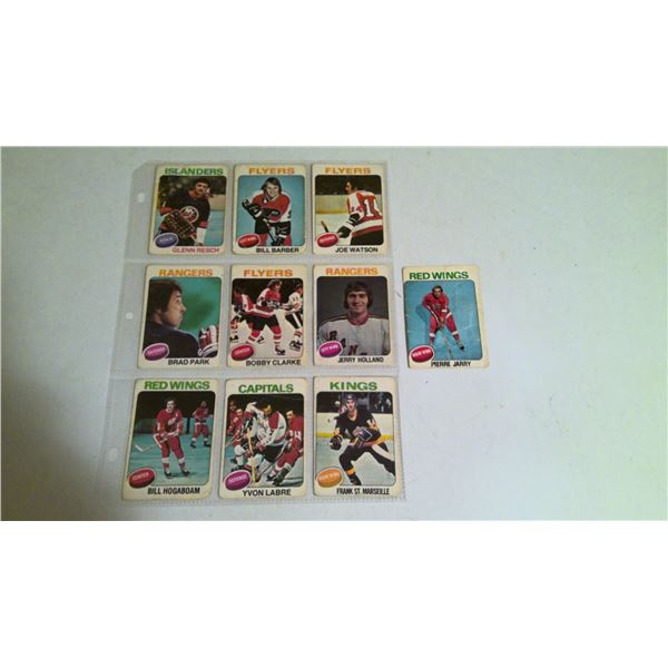 Page lot of 1976 O-Pee-Chee Hockey cards