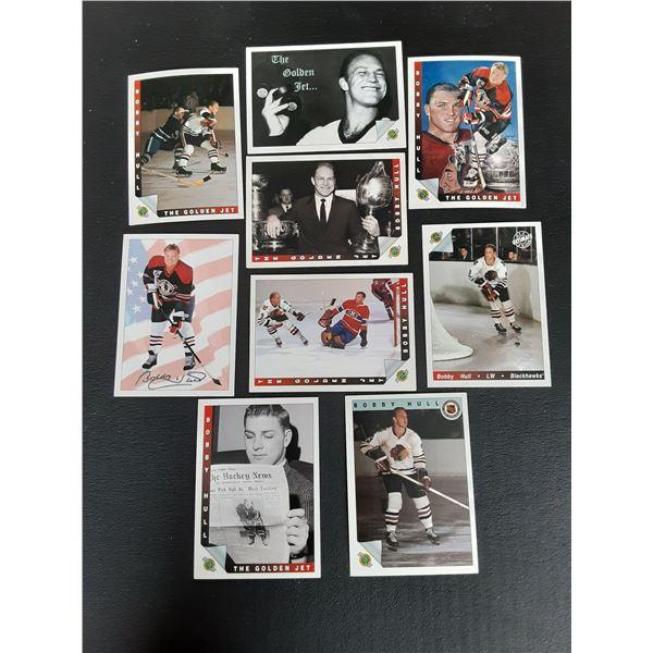 Lot of 9 Bobby Hull Cards