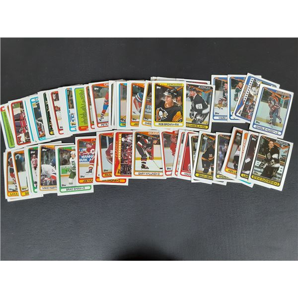 Large stack of unsearched 1990 Topps Hockey cards