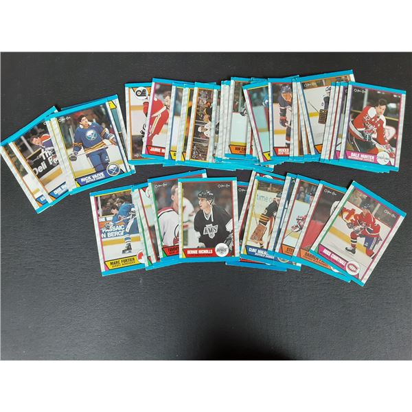Large stack of unsearched 1989 O-Pee-Chee Hockey cards