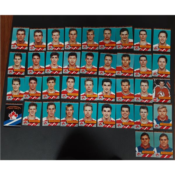 1991 Alberta's International Hockey Tour Cards - complete set