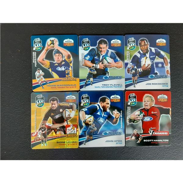 Lot of 6 2008 Collectible Rugby Cards from New Zealand