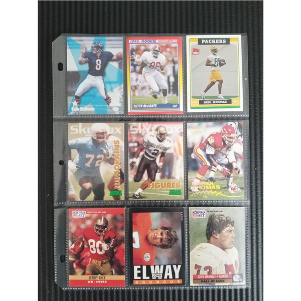 Page Lot 9 cards NFL Cards