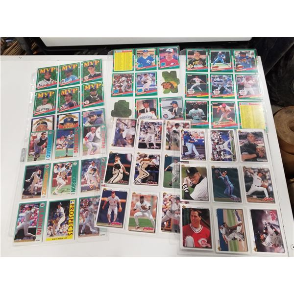 6 page lot misc baseball cards