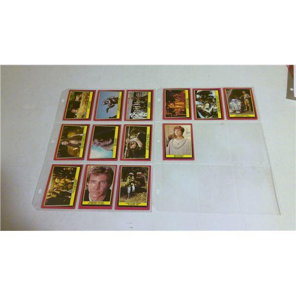 Vintage Star Wars Return of the Jedi Cards lot