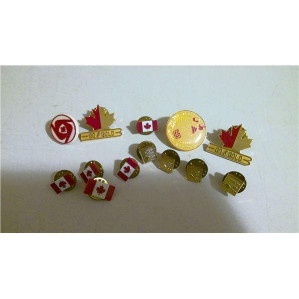 Lot of team Canada lapel pins