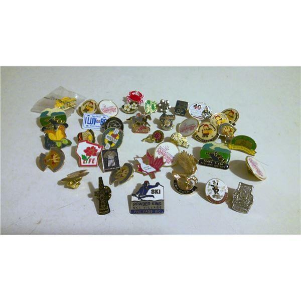 Lot of western Canada lapel pins