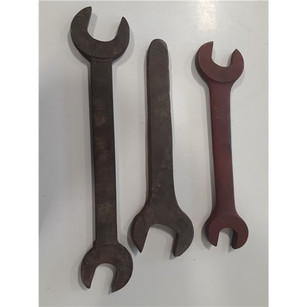 Lot of 3 Antique Large Wrenches