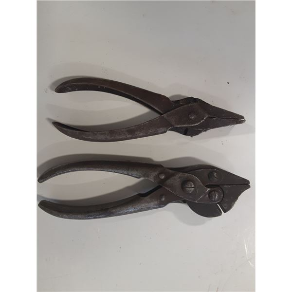 Lot of 2 Antique Bernard's Pliers