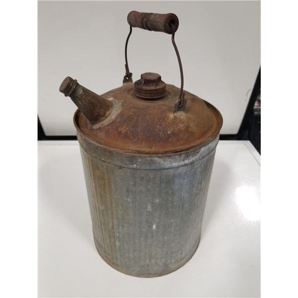 Antique Galvanized Gas Can