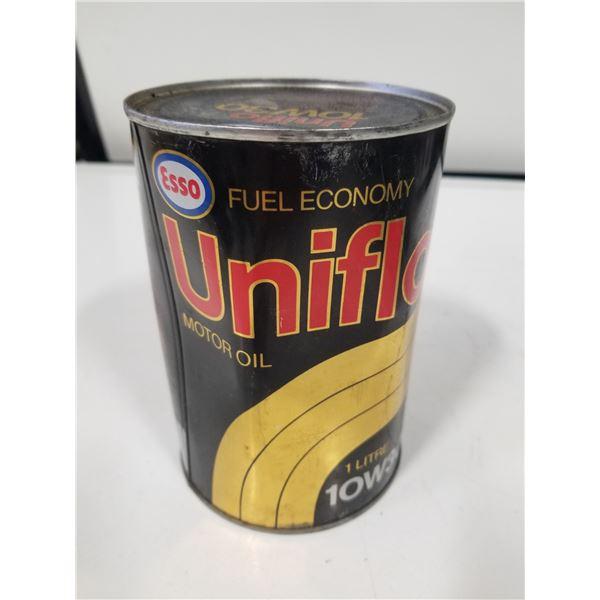 Esso Uniflow 10W-30 Oil Tin