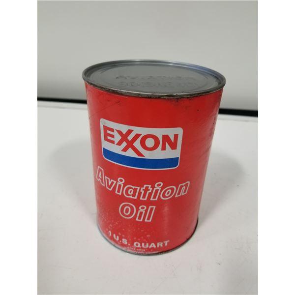 Exxon Aviation Oil Cardboard Oil can