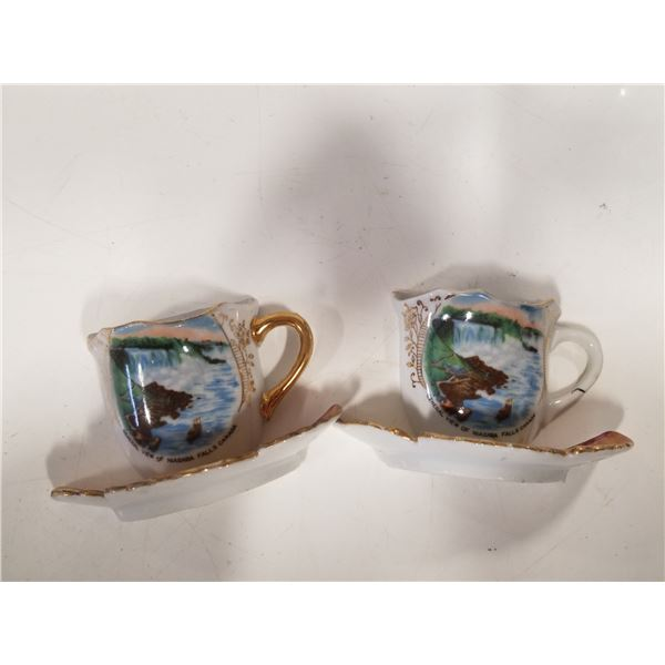 Made In Occupied Japan Niagra Falls 1/2 Tea Cup souvenirs