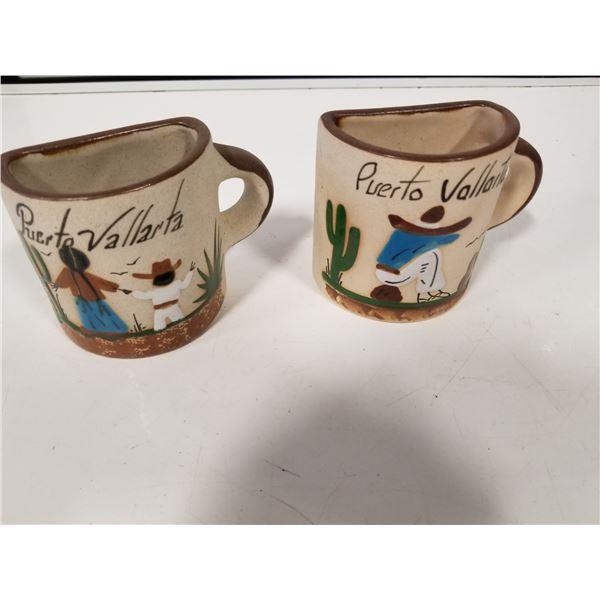 Puerto Vallarta Vintage Souvenir Coffee Mugs