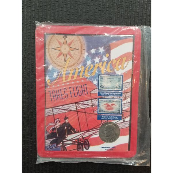 America Takes Flight Coin and Stamp Set