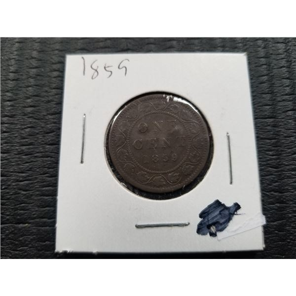 1859 - Canadian Large 1 cent coin
