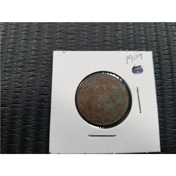 1909 - Canadian Large 1 Cent Coin