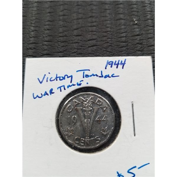 1944 - Canadian 5 Cent Victory Coin