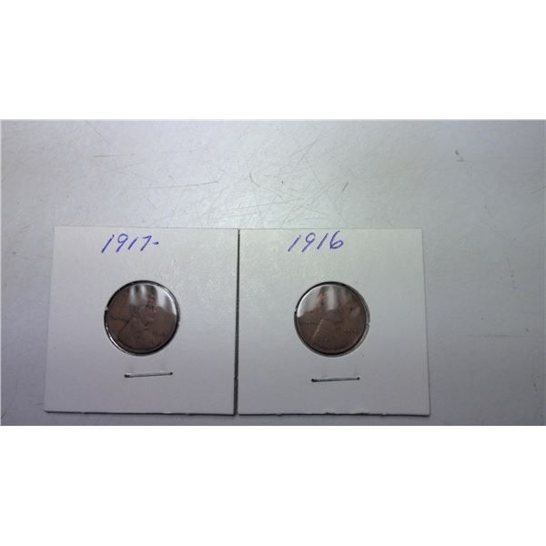 1916 and 1917 USA Wheat Cents