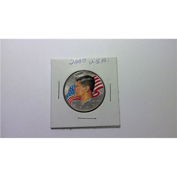 2000 USA Coloured Half Dollar