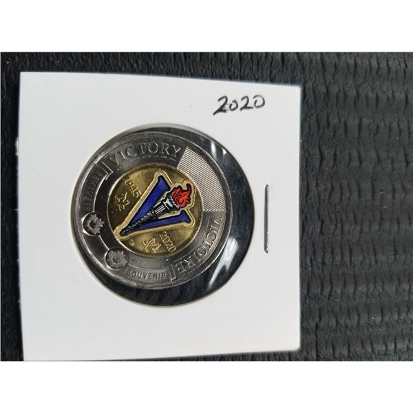 2020 1945-2020 Commemorative Coloured Victory 2$ coin