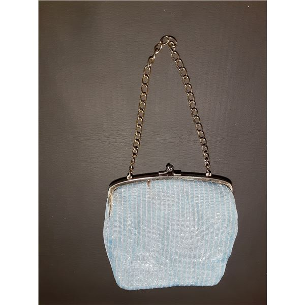Vintage Blue Ladies Handbag