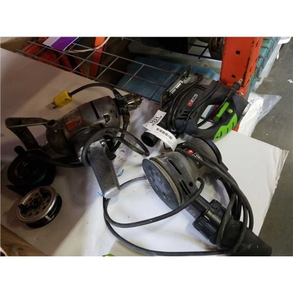POWER XT JIGSAW, PORTER CABLE SANDER AND ELECTRIC DRILL