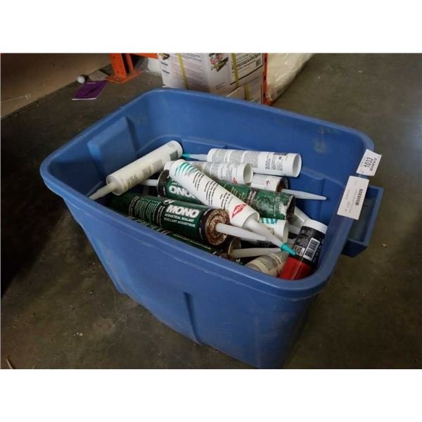 TOTE OF CAULKING AND ADHESIVE