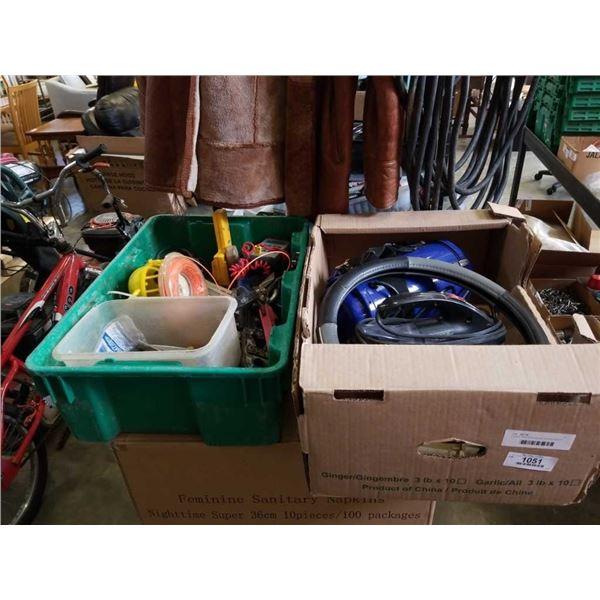 2 boxes of dirt devil vacuum, simoniz vacuum weed eater line and more