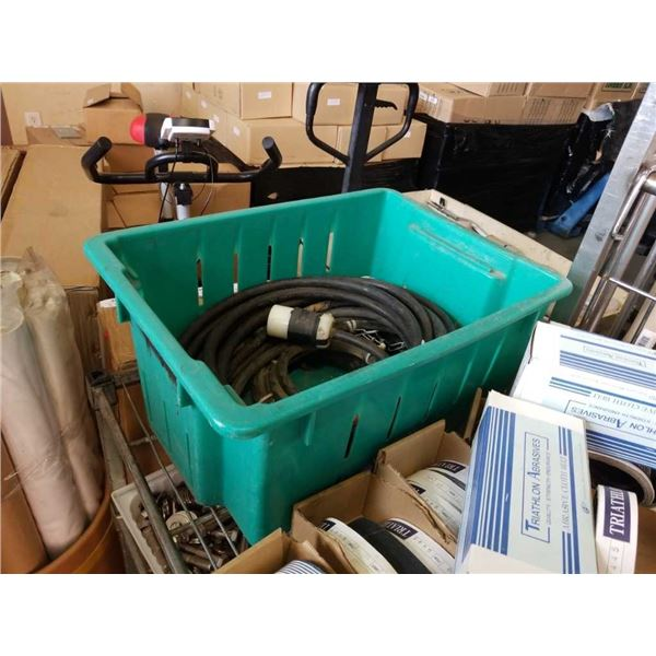 Tote of large electrical cable