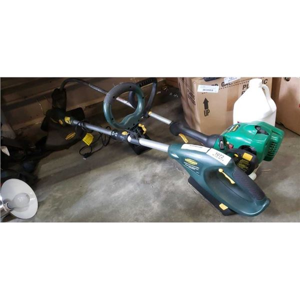 Cordless yardworks and gas weedeater
