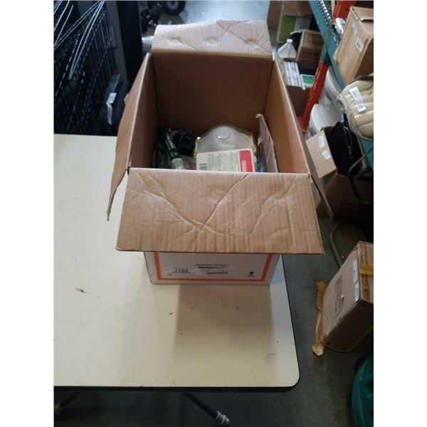 BOX OF FIRST AID AND EMERGENCY ITEMS