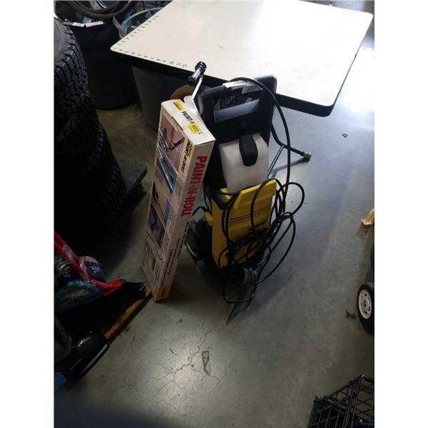 KARCHER ELECTRIC POWER WASHER AND PAINTNROLL SYSTEM