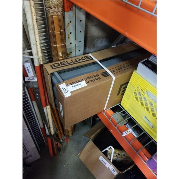 BOX OF NEW DELUXE METAL SHELVES
