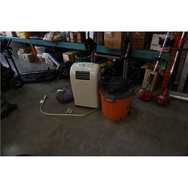 Rigid wet shopvac working no hose and simplicity 7000 btu air conditioner