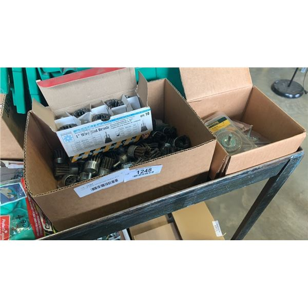 LOT OF WIRE BRUSH AND WHEEL BITS