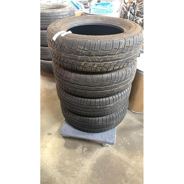 4 225/65R17 INCH TIRES - TWO MICHELIN, TWO BF GOODRICH