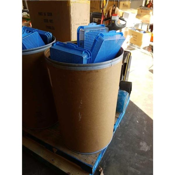 Cardboard barrel of Parts trays