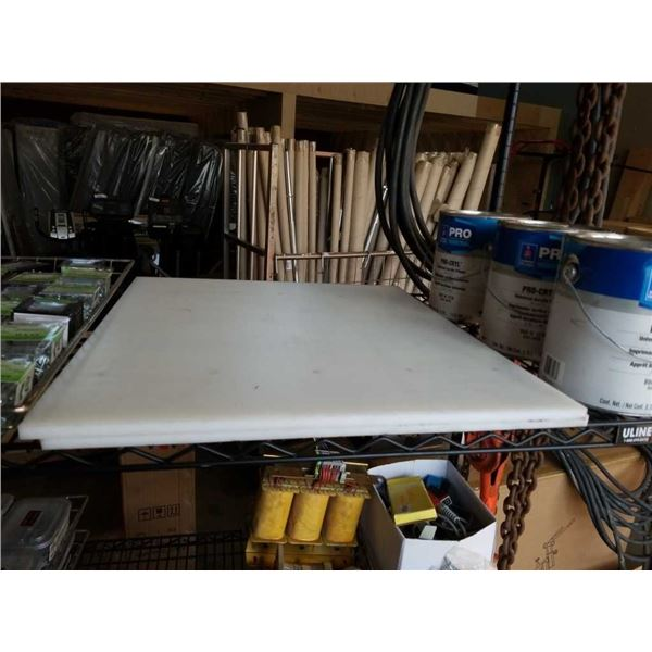 Two white cutting boards