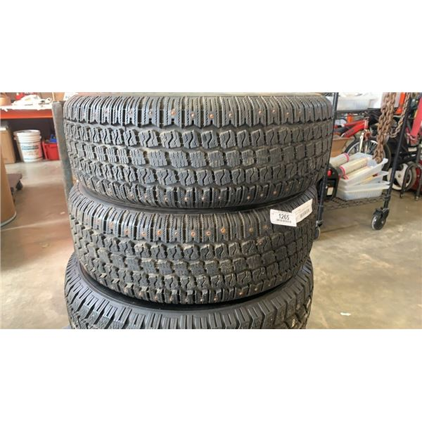 Pair of winter king P205/60 R15 studded tires