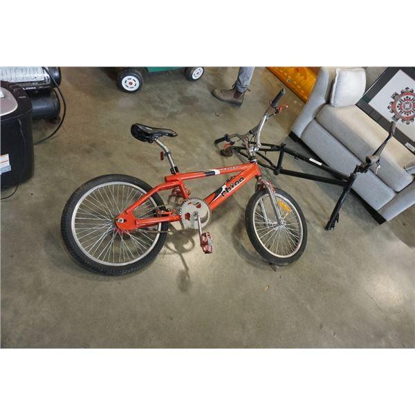 Rhino peugot bike and black bike frame