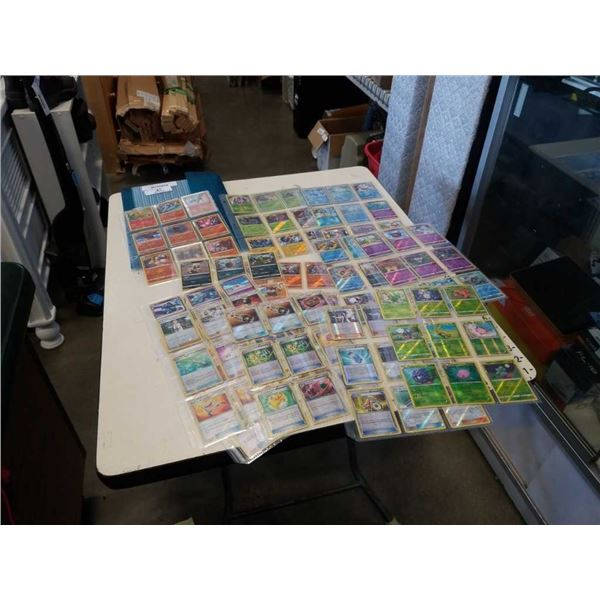 BINDER OF SHINY POKEMON CARDS - RARE HOLOS, COMMON HOLOS/REVERSE AND TRAINER HOLOS/REVERS UNCOMMON A