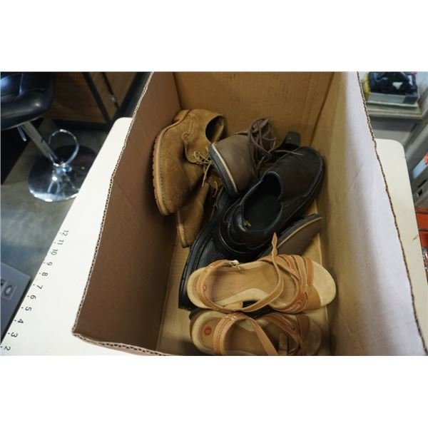 BOX OF MENS AND WOMENS SHOES
